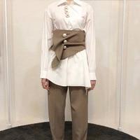 High End Suit Fabric WIde Waist Belt Women Pearl Botton Check Patten Corset Strechy Girdle Vintage Ladies Dress Belt Accessories