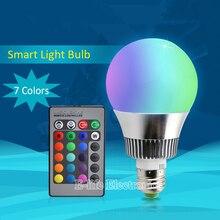 Alta Calidad Inteligente de Regulación de Potencia RGB Llevó el Bulbo de La Lámpara 16 Color la señal de infrarrojos de control remoto by ios android trabajar con broadlink rm Pro