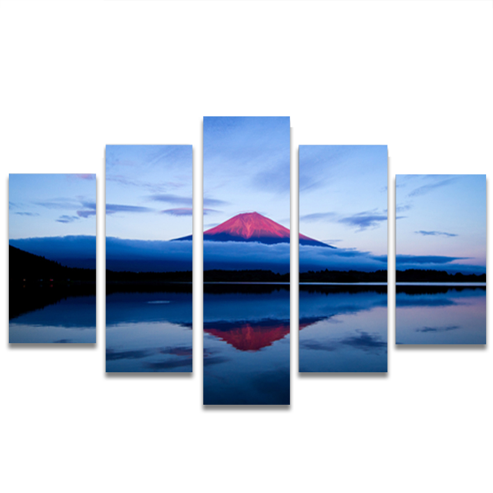 Unframed HD Canvas Painting Mount Fuji Cloud Sea Dusk Lake Picture Prints Wall Picture For Living Room Wall Art Decoration