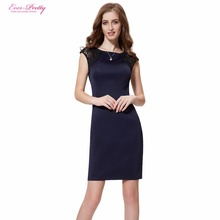 Stylish cocktail sapphire dresses short sleeve shipping summer fashion blue lace