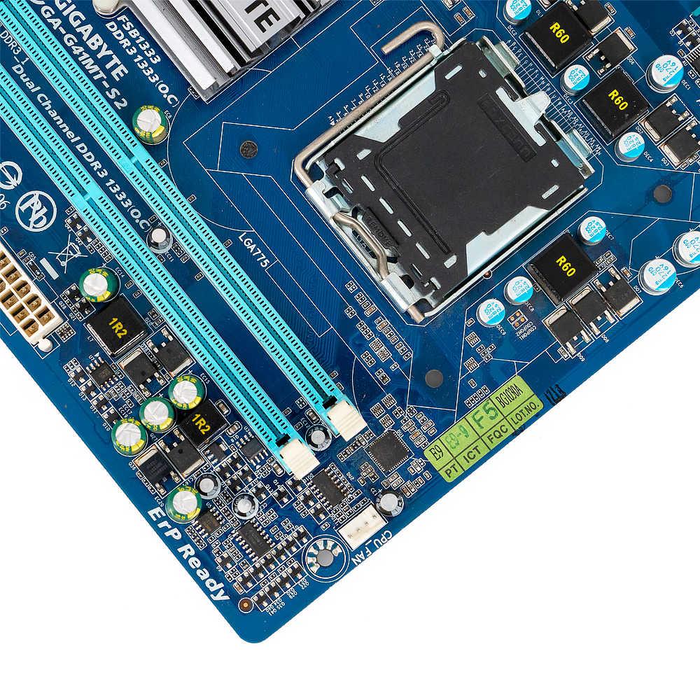 Gigabyte GA-G41MT-S2 настольная материнская плата G41MT-S2 G41 розетка LGA 775 для Core 2 DDR3 8G Micro-ATX оригинальная б/у материнская плата