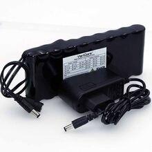 VariCore-batería recargable de 12 v, 9,8 Ah, 9800mAh, 18650, placa de protección de 12 V, batería de Monitor CCTV + cargador de 12,6 V 1A