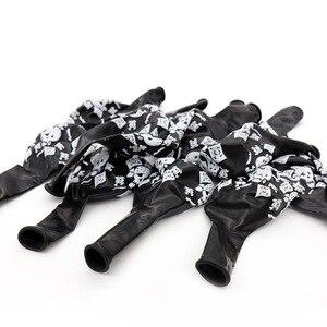 10 шт. 12 дюймовые латексные шары с черепами, пиратские воздушные шары на Хэллоуин, Пиратская тематическая вечеринка на день рождения, украшения, игрушки для детей, черные|Воздушные шары и аксессуары|   | АлиЭкспресс
