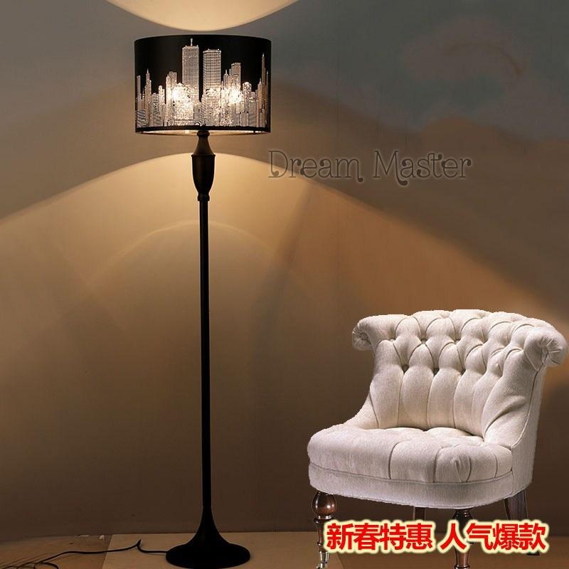 Simple Fashion Nordic Black Floor Lamp Bedroom Study Room Living Room  Creative Decorative Vertical Desk Lamp Postage Free