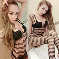Women Sexy Lace Neck Fishnet Body Stockings Sexy Lingerie Nets Clothings Sex Costumes Mesh Fishnet Pantyhose tights