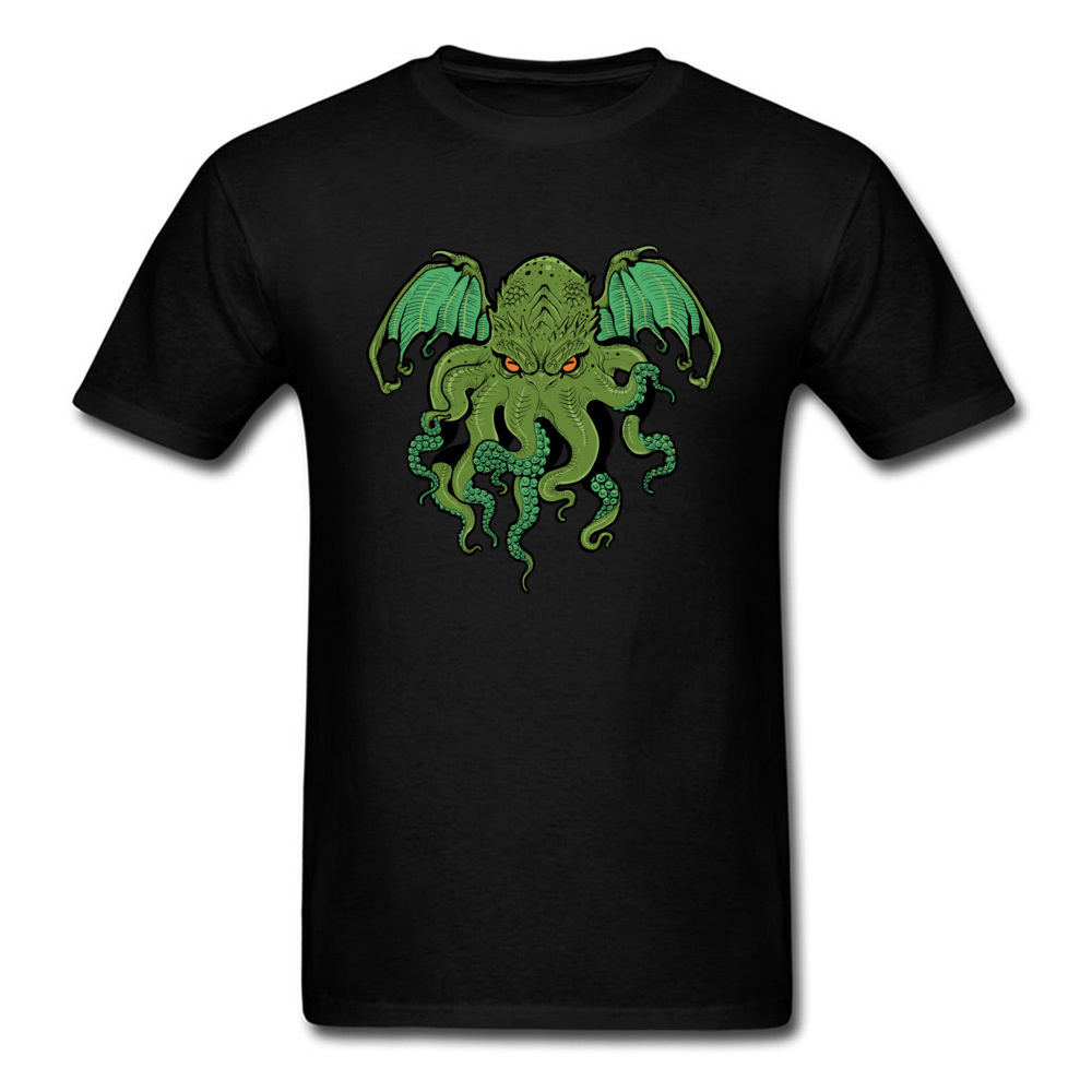 cthulhu 10992 Design ostern Day 100% Cotton Round Collar Mens Tees Summer Tee Shirt Family Short Sleeve T Shirts cthulhu 10992 black