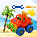 DIY New Christmas Gift Kids Child Baby Boy Disassembly Assembly Classic Car Toy