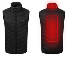цена New Motorcycle Jacket Outdoor USB Infrared Heating Vest Jacket Men Women Winter Electric Thermal Clothing Waistcoat Sports онлайн в 2017 году