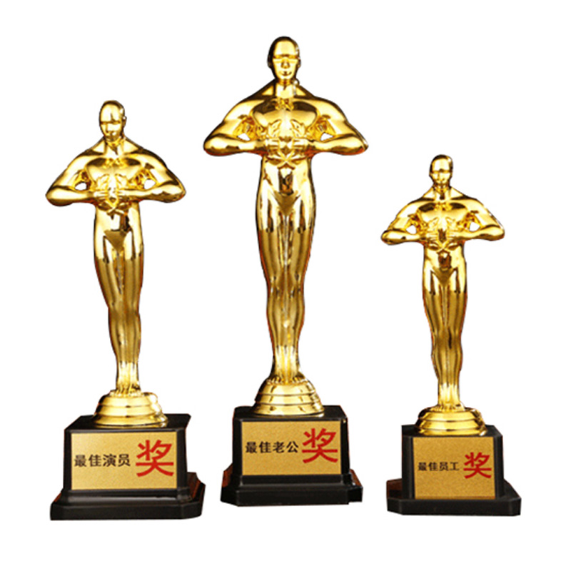 9eed09d6b Creative Oscar Trophy Little Gold Man Champions League Free Custom Award  Music Competition