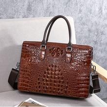 BAQI Men Handbags Briefcase Bag Cow Leather Crocodile Pattern Man Shoulder Messenger Bag Password Lock Men Computer Business Bag цены