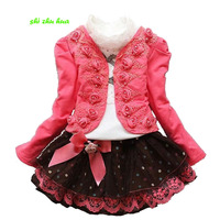 Girl S Clothes Spring And Autumn Rose Princess Dress Children S Suit Birthday Party Prom Baby