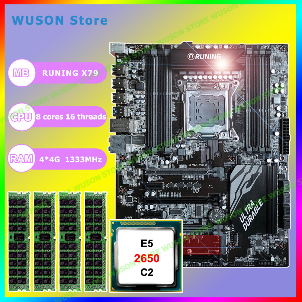 Runing ATX Super X79 LGA2011 motherboard 8 DDR3 DIMM slots max 8*16G 1866 memory CPU Xeon E5 2650 C2 RAM 16G(4*4G) DDR3 RECC e5 3 3c motherboard lga2011 intel cpu interface atx standard type motherboard structure ddr3 memory for desktop