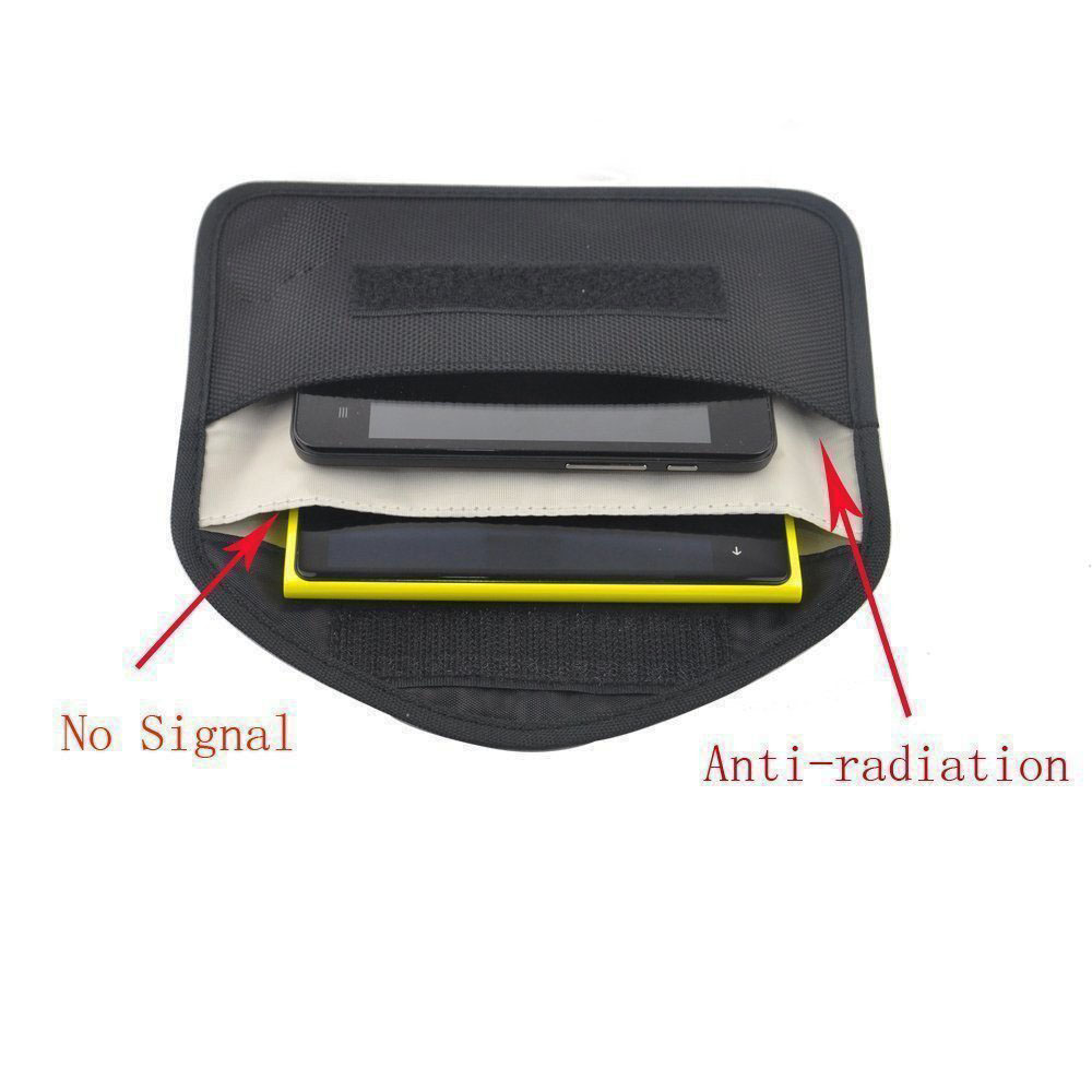 New <font><b>GSM</b></font> <font><b>3G</b></font> <font><b>4G</b></font> <font><b>LTE</b></font> GPS RF RFID Signal Blocking Bag Anti-Radiation Signal Shielding Pouch Wallet Case for Cell Phone 6 Inch image