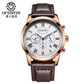 OCHSTIN Brand 2017 Waterproof Analog Quartz Watch Men Fashion Casual Sports Watches Man Leather Wristwatches Relogio Masculino