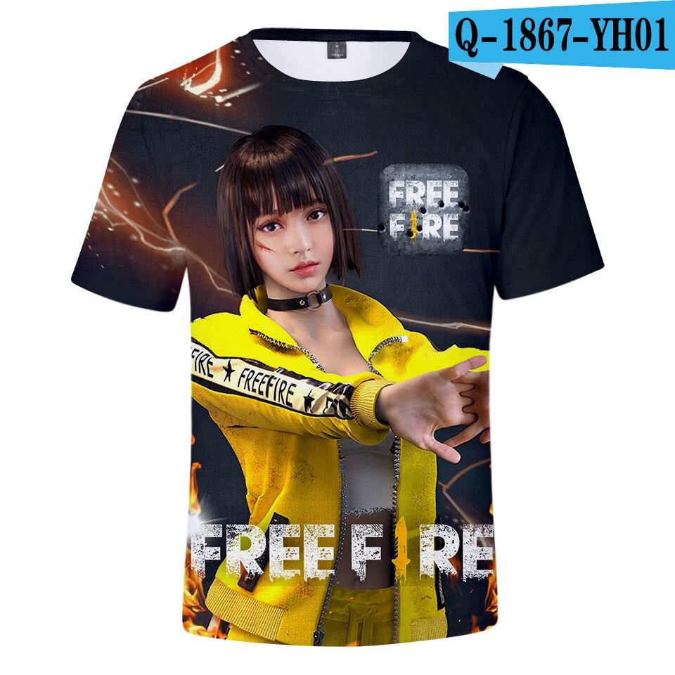 Us 904 40 Off2018 Free Fire Shooting Game 3d T Shirt Menwomen Summer Cool Tshirt Funny Fashion Tees Malefemale Fashion Tshirts Sexy Print In