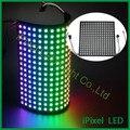 16*16 Matriz de Pixels WS2812 DC5V RGB SMD5050 LEVOU Luz Do Painel Flexível Digitais