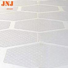 Revestimento hexagonal transparente, plataforma de tração para prancha de surf, 20 peças a caixa
