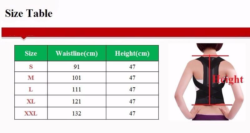 back support for women Unisex Adjustable Back Posture Corrector Brace Back Shoulder Support Belt Posture Correction Belt for Men Women S-XXL Belt Health AOFEITE (4)