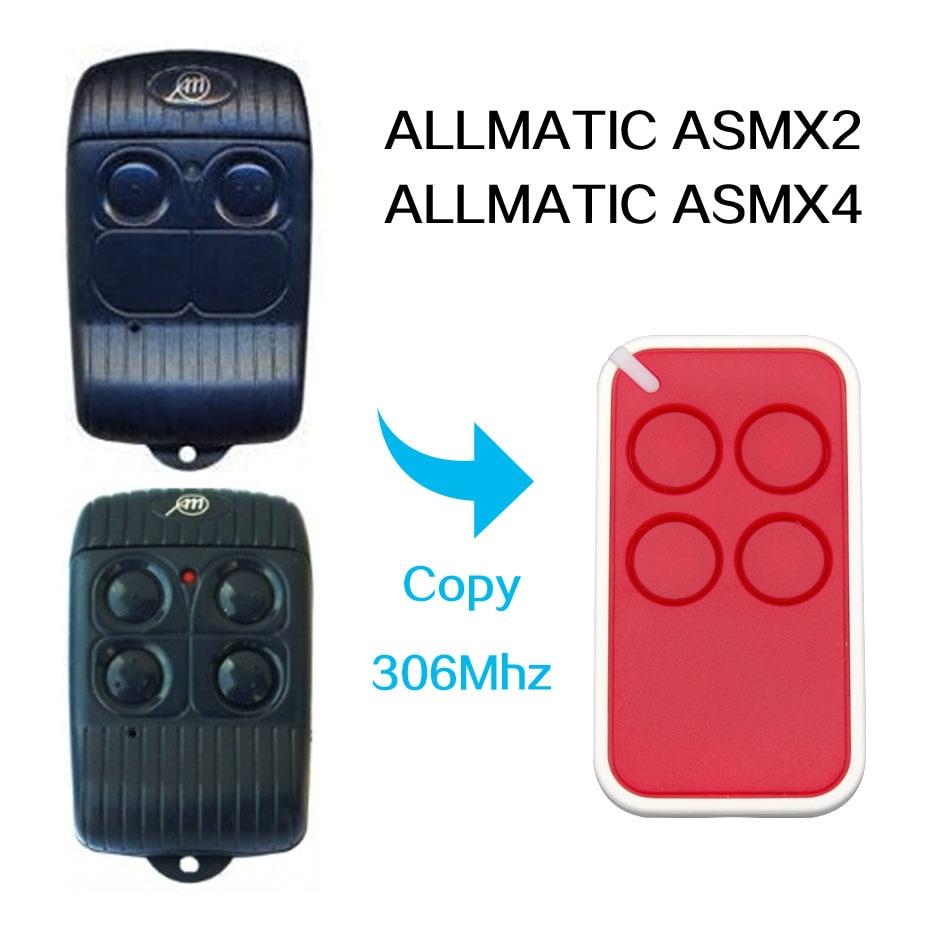 Kopie ALLMATIC ASMX2. ASMX4 fernbedienung universal 306 Mhz