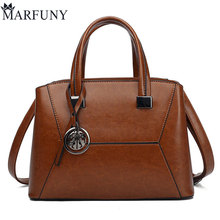 Famous Brand Women Message Bag Female Leather Crossbody Vintage Shoulder Bags For 2018 Brown Ladies
