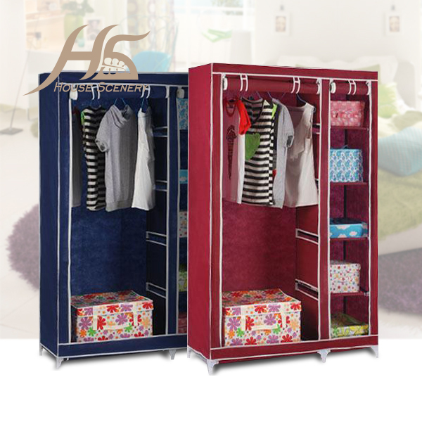 House Scenery Bedroom Simple Steel Frame Folding Cabinet