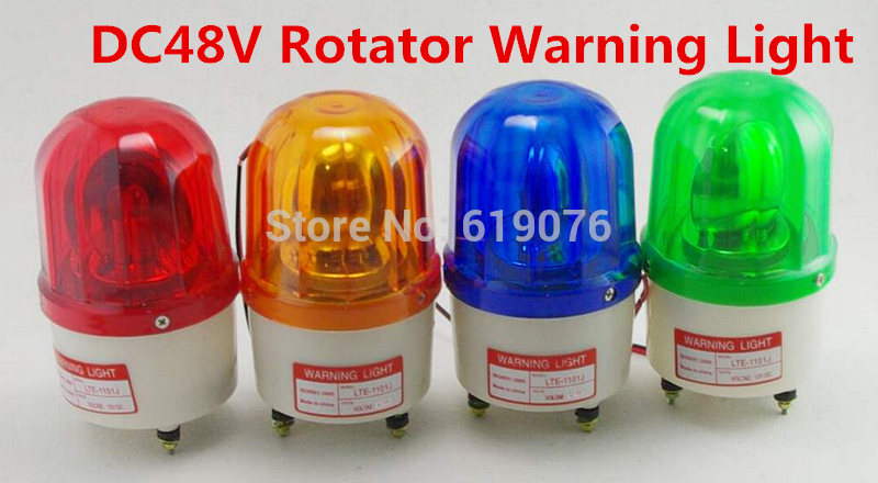 LTE-1101 AC110V Red Yellow Green Blue Rotating Beacon Warning Light Lamp Spiral Fixed