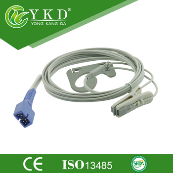 Veterinary Vet Animal Clip Lingual SpO2 Sensor for Nellcor Oximax DB9 9pin