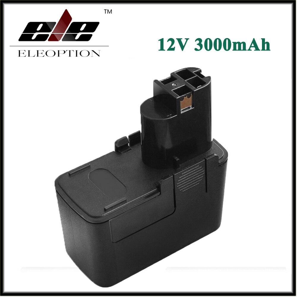 Batterie d'outil électrique Rechargeable Eleoption 12 V 3000 mAh Ni-MH pour Bosch BAT011 PSR120 PSR 12 V PSR 12VE PSR 12VES-2 BH1214H BH1214M
