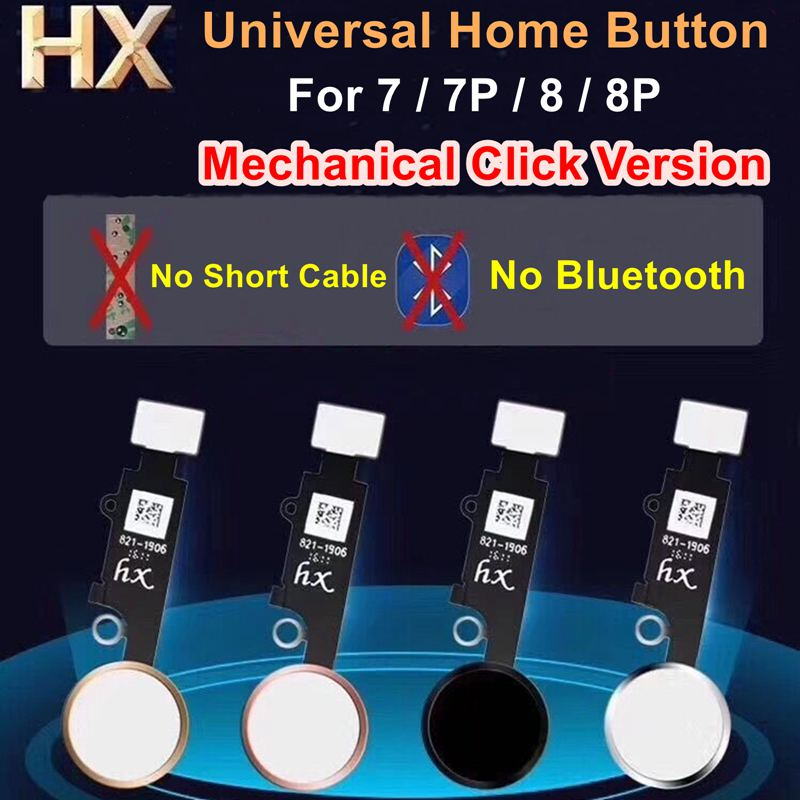 HX Mechanical Click Version Universal Home Button Flex Cable 4 Colors for iPhone 7 / 7P / 8 / 8 Plus 8P Replacement-in Mobile Phone Flex Cables from Cellphones & Telecommunications on AliExpress - 11.11_Double 11_Singles' Day 1
