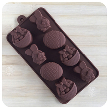 2017 Easter Eggs Rabbit Fondant Chocolates Silicone Mold for Cookie Cake Decorating Tools Kitchen Accessories Stencil