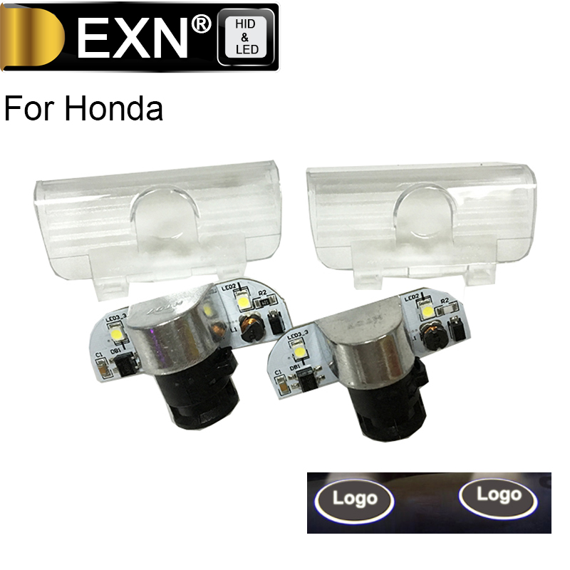 Goog Quality A Pair LED Car Welcome Door Courtesy Laser Projector Logo Ghost Shadow Light For Honda Courtesy Lamp No Drilling