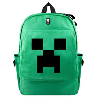 Student MineCraft Cartoon Backpacks Canvas School Bags Sac A Dos Male/female Backpack School Bags Pack For Boys And Girl