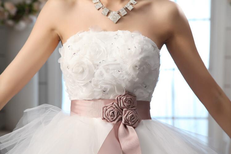 Royal princess wedding dress short train 1