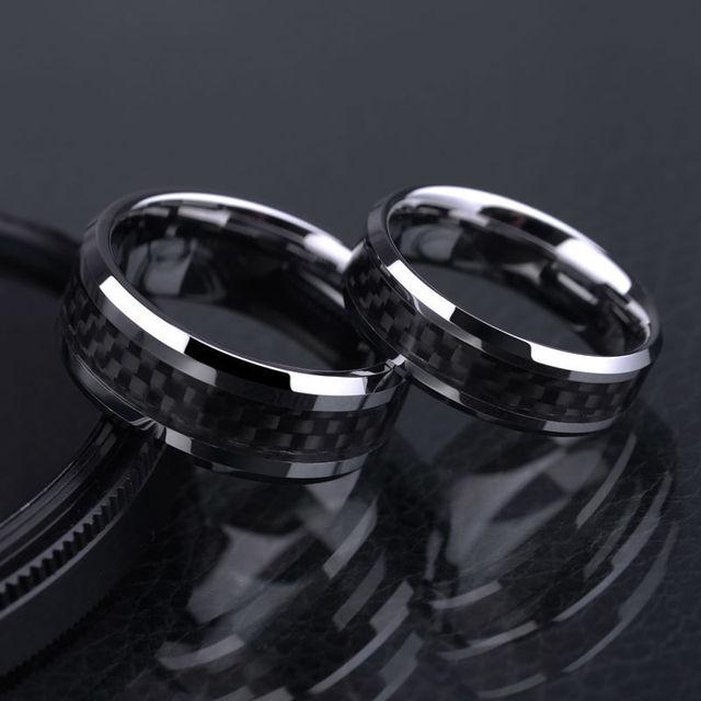 Man's Tungsten Carbide Ring  Black