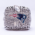 Factory direct sale 2001 New England Patriots Super Bowl Zinc Alloy silver plated Championship Ring Custom Sport Replica Jewelry