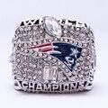 Venta directa de fábrica 2001 New England Patriots Super Bowl Replica Anillo de Campeón Deporte Personalizado de Aleación de Zinc plateado de La Joyería