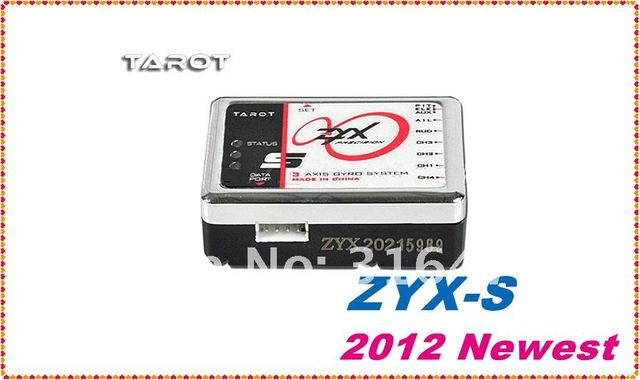 US $55 33 |2012 Latest Tarot ZYX S Flybarless 3 Axis Gyro System ZYX 08 For  Trex 450 500 550 600 700 3G FBL RC Helicopter + Free Shipping-in Parts &