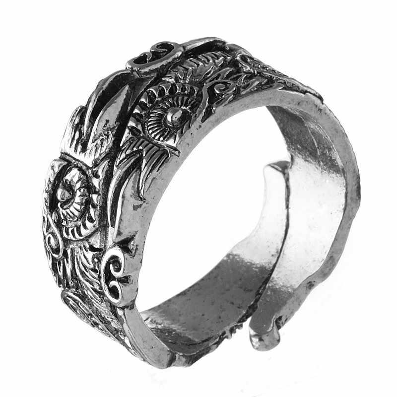 Норвежский викинг Odin руны кольца для лучшего друга подарок warcraft талисманы ювелирные изделия мужские кольца