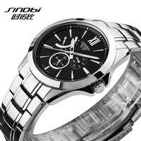 SINOBIนาฬิกาผู้ชายนาฬิกาบุรุษยอดนาฬิกาแบรนด์หรูกันน้ำเต็มเหล็กของผู้ชายนาฬิกานาฬิกาrelógio masculino e...