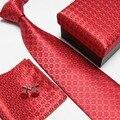 Шея галстук комплект галстук шуры запонки мужские галстуки устанавливает подарочной коробке носовые платки карманные квадратная башня галстук высокое качество # 2