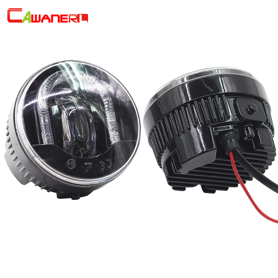 Cawanerl 2 Pieces Car LED Fog Light DRL Daytime Running Lamp High Lumens For Nissan Qashqai Patrol Tiida for nissan patrol y62 armada accessories original design fog lamp with chrome fog light cover