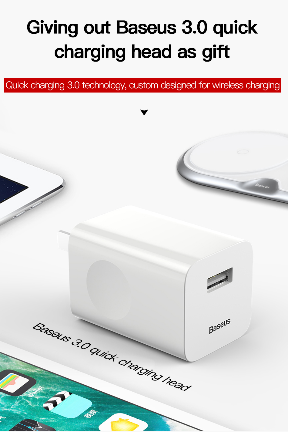 Wireless Charger of Baseus Dual For iPhone X XS Max Xr Samsung S9 S8 Note 8 9 10W Fast Wireless Charging Pad Dock Station Desktop 14