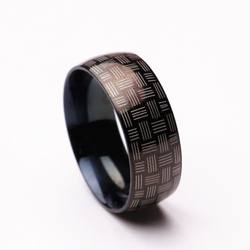 Fashion black men Brand ring 316L Titanium stainless steel rings gun plated black color jewelry wholesale wedding rings