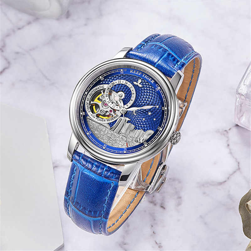 Reloj de marca de lujo de tigre de arrecife/RT para Mujer, Reloj automático de cristal de zafiro, Reloj resistente al agua, Reloj femenino RGA1739