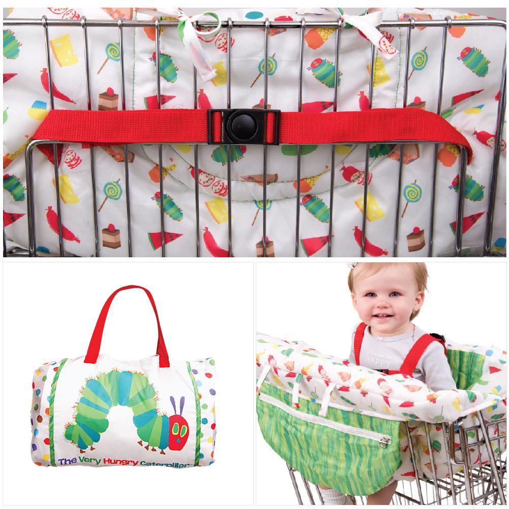 Kids Children'shopping Cart Trolley Cushion Cartoon Caterpillar Game Pad Dining Chair Cushion Case Safe Portable Pad  Islamabad