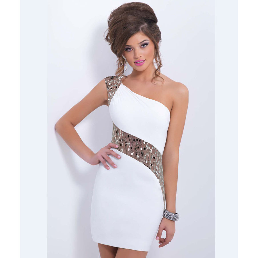 Aliexpress.com : Buy Sexy Club Dress 2015 White Bodycon Dress One ...