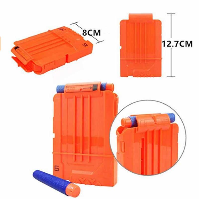 Peralatan Taktis Gun Antar-jemput Peluru Majalah untuk NERF Gun Aksesoris Peluru Klip Kompatibel untuk Pistol NERF Cosplay Gun