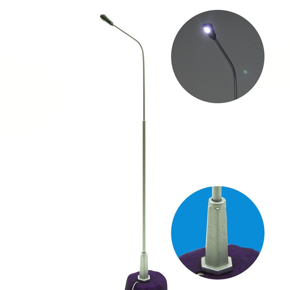 30pcs 19.5cm 1/50 scale model Metal copper Streets Lamp LED architectural Model Railway Street Lighting