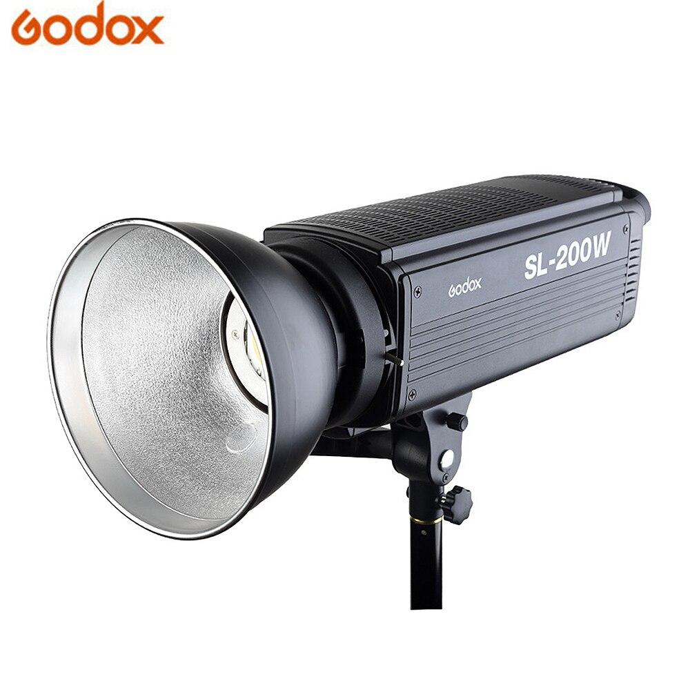 Godox SL-200W светодиодный видео 5600 K Studio наполнителя света Фото светодиодный свет Боуэн белый свет сборки версия для видео studio