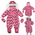 Newborn/Baby/Infant Snowsuit Winter Overalls for A Boy Girl Clothes 2016 Brand Kids White Duck Down Rompers Hooded Clothing
